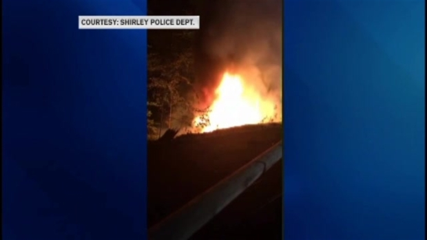 [NECN] Police Investigate Fiery Car Crash That Knocked Out Power