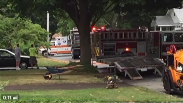 [NECN]Authorities at Scene of Deadly Asphalt Truck Accident