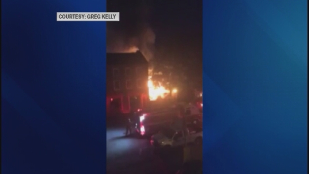 [NECN] Firefighters Battle 4-Alarm Fire in Newburyport, Mass.