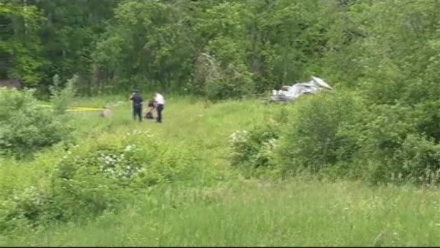 [NECN] VIDEO FROM THE SCENE: Laconia, NH, Small Plane Crash