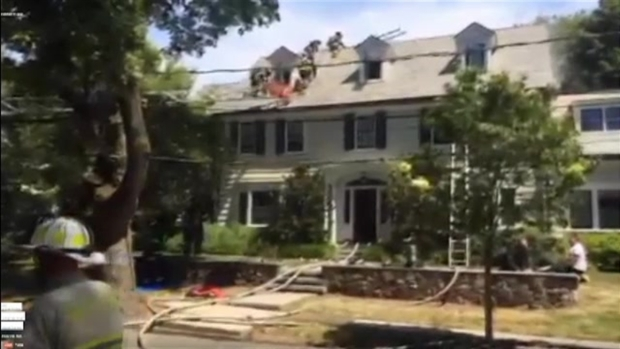 [NECN] Firefighters Respond to House Fire in Newton, Massachusetts