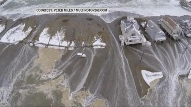 [NECN] Scituate Beach Drone Video