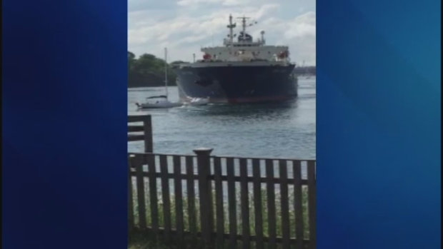 [NECN] Oil Tanker Hits 3 Moored Sail Boats