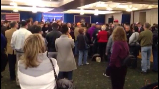 Trump Protester Removed From N.H. Rally