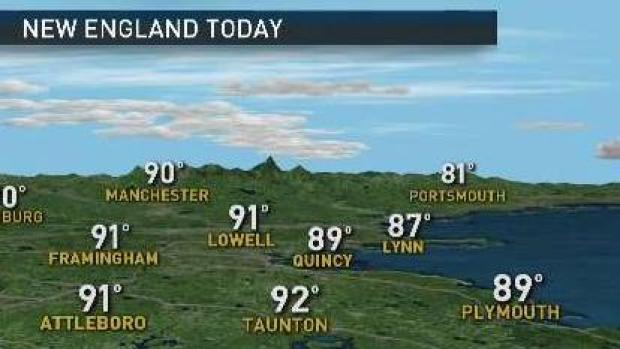 [NECN] Weather Forecast: Hot and Humid to Close Out Weekend