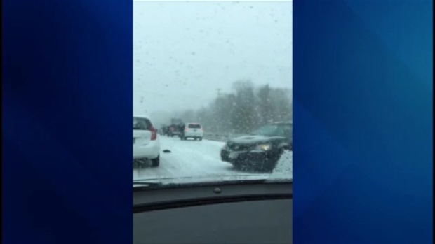 Multiple Cars Involved in I-93 Crash
