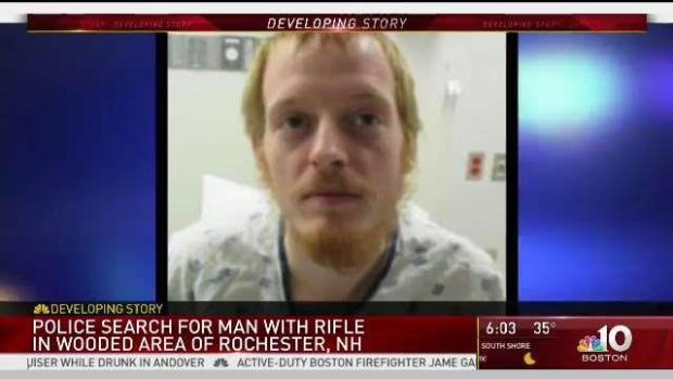 [NECN] NH Police Continue Manhunt for Wanted Man