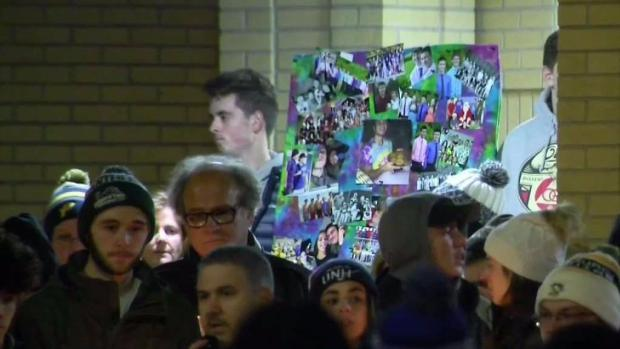 [NECN] Manchester, NH High School Students Attend Vigil for Classmate Killed Outside Hardware Store