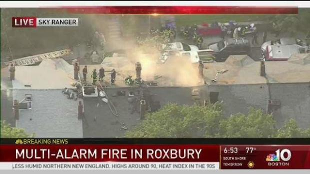 [NECN] Nearly $1 Million in Damages After Roxbury Structure Fire