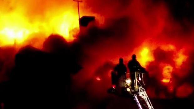 [NECN] Nearly 30 Left Homeless in Raging Lynn Fire