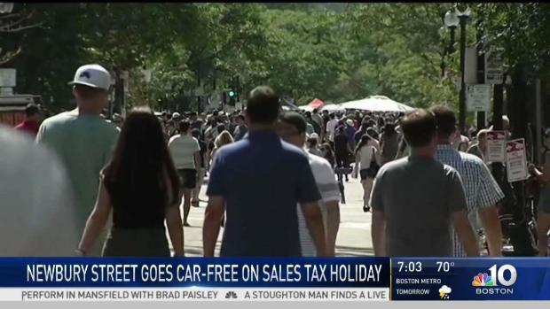 [NECN] Newbury Street Goes Car-Free on Sales Tax Holiday