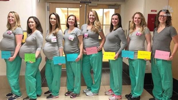 [NY] 9 Nurses in Hospital Maternity Ward Get Pregnant at Same Time