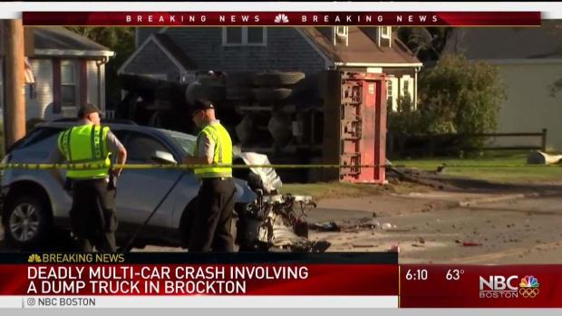 [NECN] One Person Killed in Brockton 3-Vehicle Crash