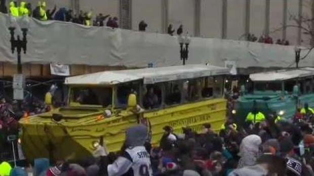 [NECN] Patriots Fanatics Ready and Eager for Victory Parade