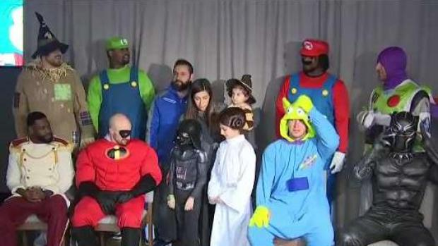 [NECN] Pats Host Halloween for Pediatric Cancer Patients