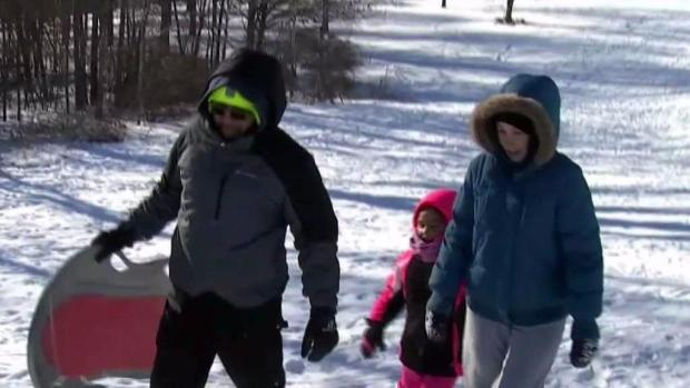 [NECN] People Brave Cold in Worcester