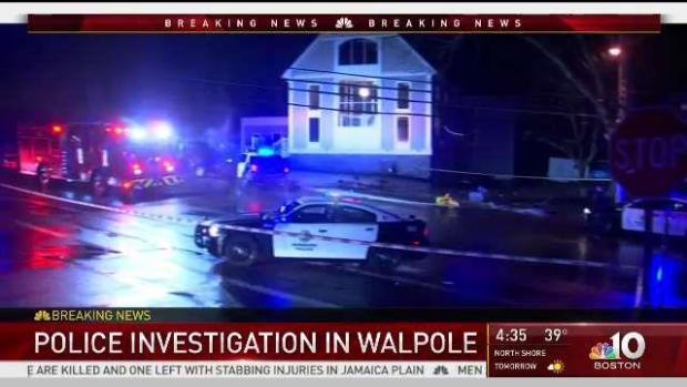 [NECN] Police Activity in Walpole, Norwood Borderline