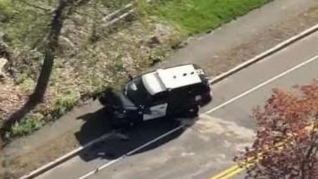 [NECN] Police Cruiser Involved in Crash in Tewksbury