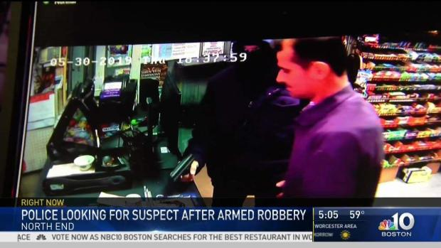[NECN] Police Looking for North End Robbery Suspect