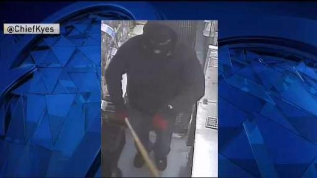 [NECN] Police Search for Armed Robber With Bat