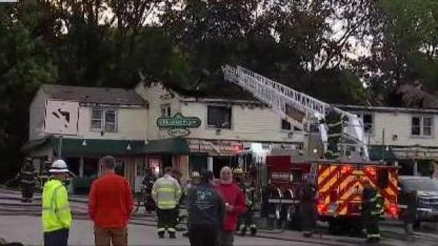 [NECN] Popular Millis Restaurant Chars in Fire