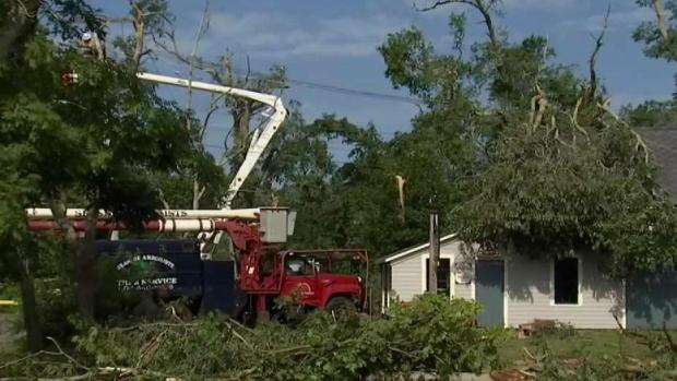 [NECN] Power Restoration Continues on Cape After Tornadoes