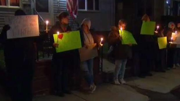 [NECN] Peaceful Protest Turns Ugly Outside Home of Convicted Child Rapist