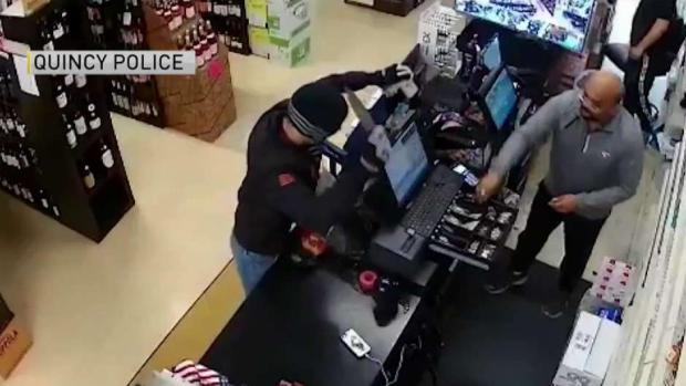 [NECN] Quincy Police Search for Armed Robber