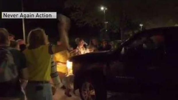 RI Corrections Officer Nearly Hits Group of Protesters
