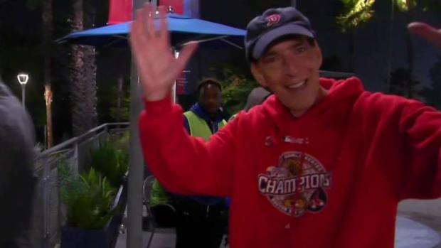 [NECN] Red Sox Fans in LA Celebrate Game 4 Win