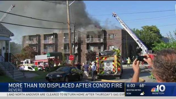 [NECN] Revere Residents Forced Out of Condo by Flames