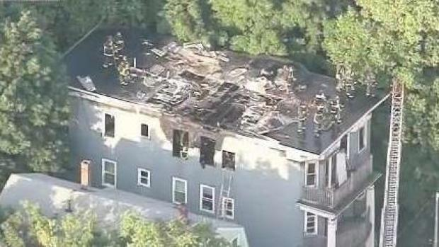 [NECN] Roof Destroyed in Dorchester 2-Alarm Fire