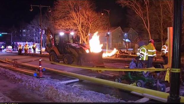 [NECN] Roslindale Fire Continues