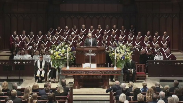 Ross Perot Jr Speaks at Perot Funeral