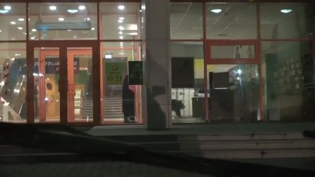 Raw: Wild Bear Runs In And Out Of Russian Mall