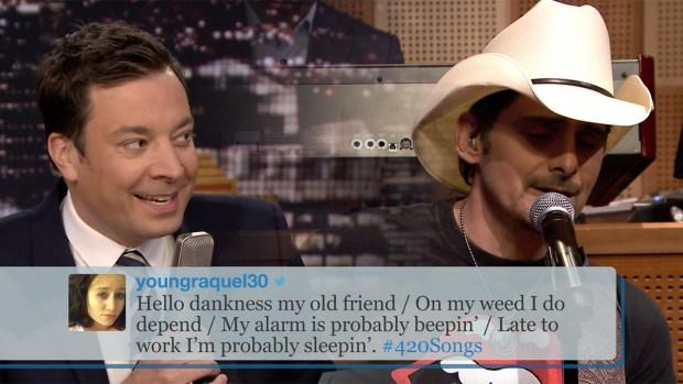 [NATL] 'Tonight': #420Songs Hashtag With Brad Paisley