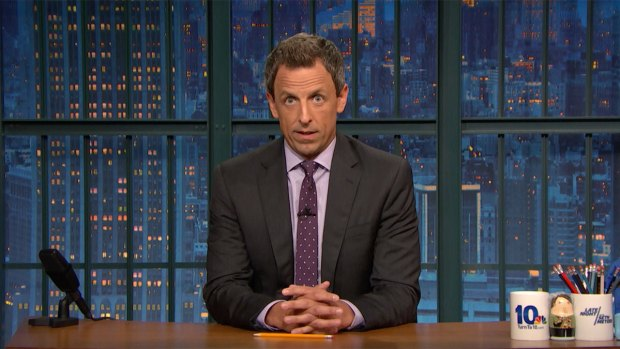 [NATL] 'Late Night': Seth Meyers Chides Donald Trump for Reaction to Charlottesville