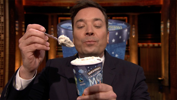 [NATL] 'Tonight': Jimmy Fallon Debuts New Ben and Jerry's Flavor