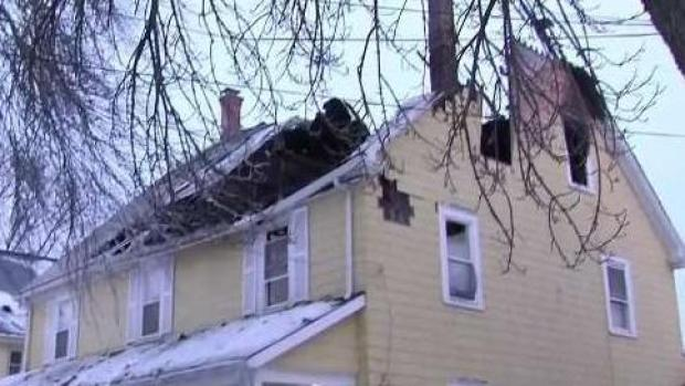 [NECN] Second Floor Ceiling Collapses as Crews Battle Fire
