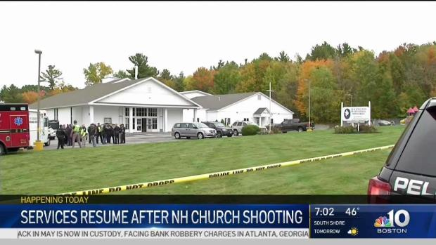 [NECN] Services Resume After NH Church Shooting