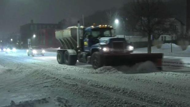 [NECN] Slick Road Conditions After Afternoon Snowstorm