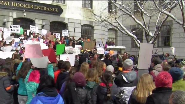 [NECN] Students in Boston Take Part in Walkout