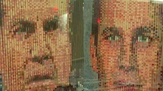 [NECN] Students Help Build Patriots Portrait With Legos