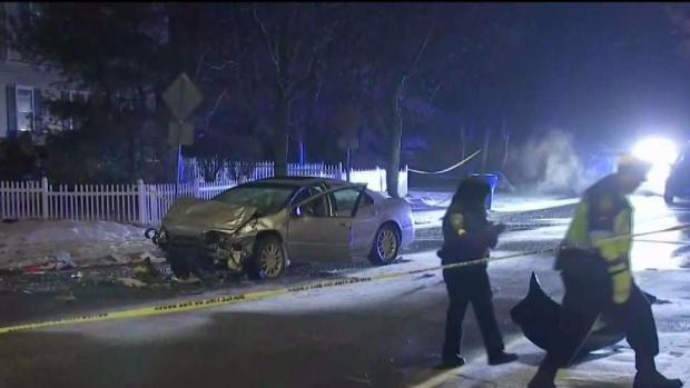 [NECN] Suspect Dies After Police Chase Ends in Randolph Crash