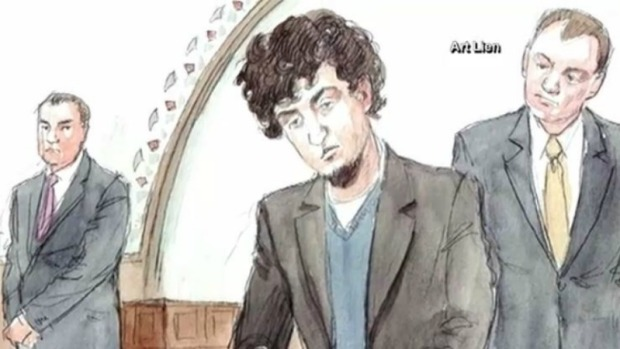 [NECN] Tsarnaev Relative Emotional in Court