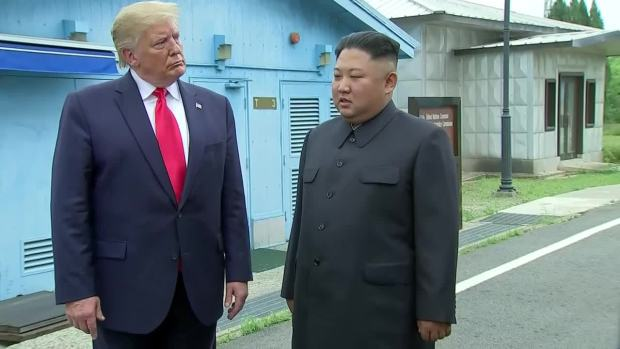 [NATL] Trump, Kim Comment After Crossing into North Korea at the DMZ