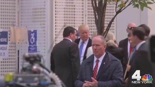 [NATL-NY] Donald Trump Booed at Polling Booth