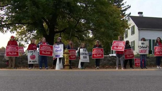 [NECN] Teachers Go on Strike in Dedham Over Contract Dispute