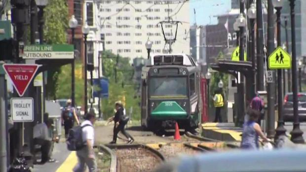 [NECN] Track Problem Causes Partial Shutdown of Green Line
