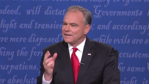 [NATL] During VP Debate, Kaine Lists Insults Trump Has Made